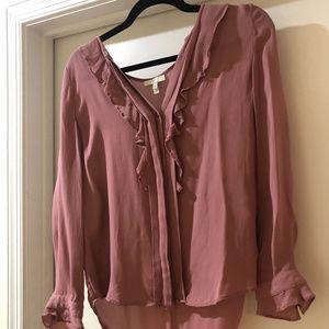 Gorgeous Joie silk mauve blouse
